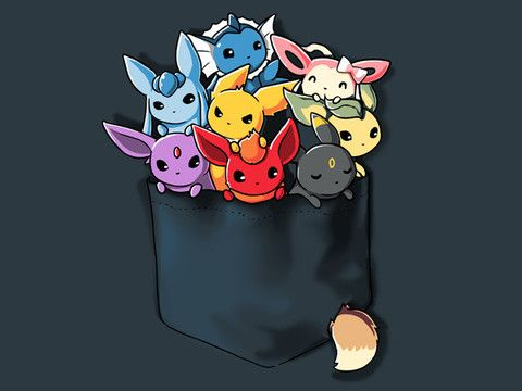 Pocket Full of Monsters, adorable video game / anime shirt from TeeTurtle.