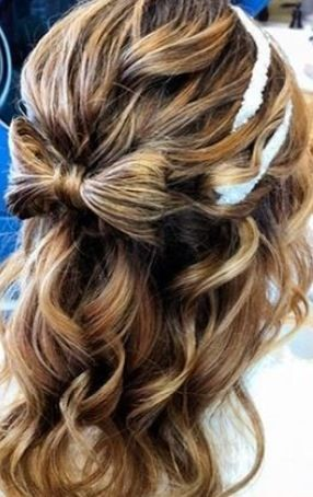 Bow hair for prom