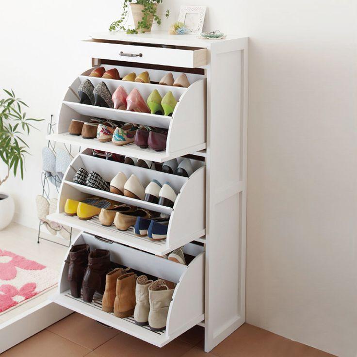 Wingover Door Shoe Cabinet Japanese Style Shoe Solid Wood Shoe Hallway  Entryway