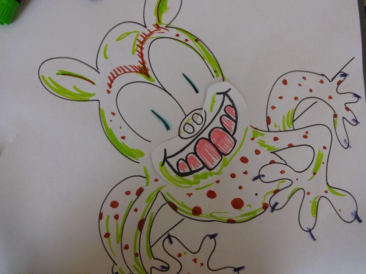 Artist Theo's Monster