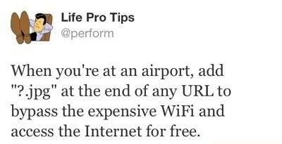 Airport WiFi- wonder if this works? Will have to try it!
