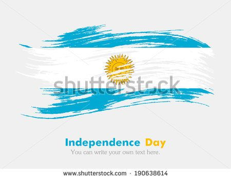 Flag of Argentina. Independence Day