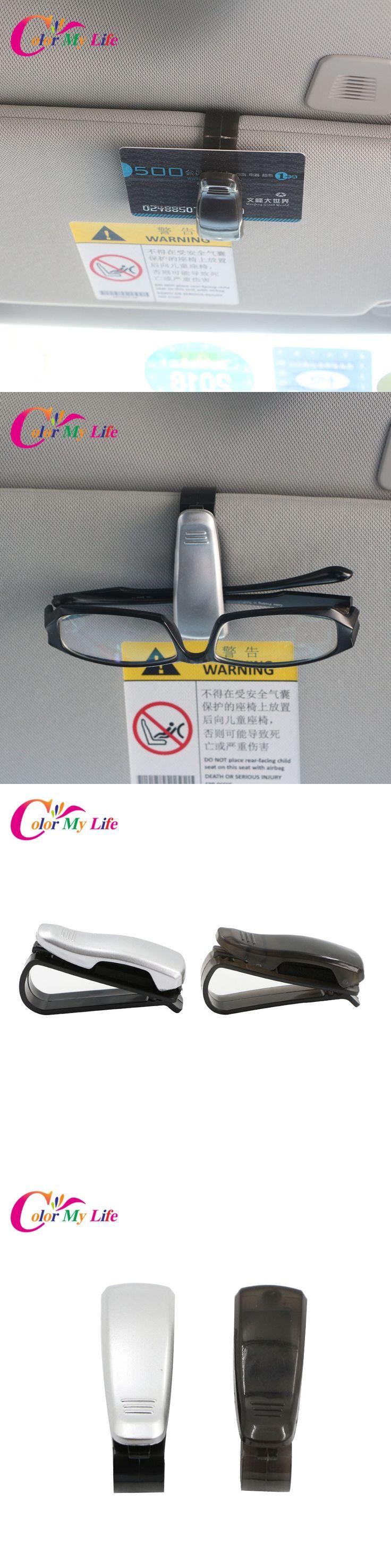Car Glasses Holder Bank Card Ticket Holder Clip for Hyundai Solaris i20 ix25 i30 ix35 for Chevrolet Captiva Sail Orlando Lacetti