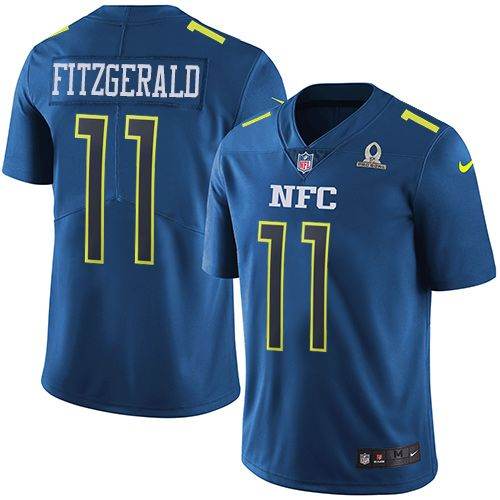 nike larry fitzgerald limited blue mens jersey nfl arizona cardinals 11 2017 pro bowl