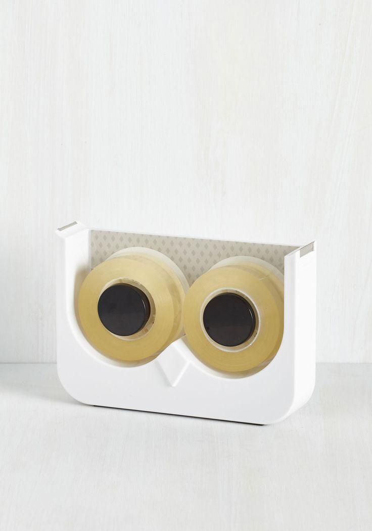 Let's Just Wing It Tape Dispenser   Mod Retro Vintage Desk Accessories   ModCloth.com