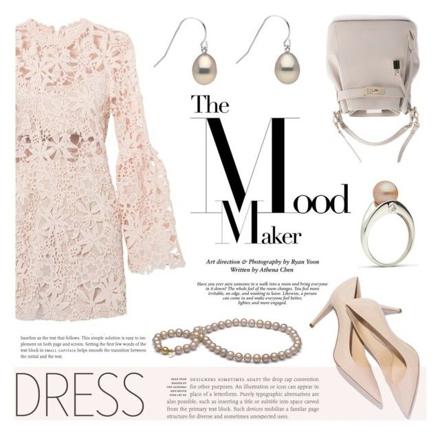 """""""New Trend: Bell-Sleeve Dresses"""" by pearlparadise ❤ liked on Polyvore featuring contestentry, pearljewelry, pearlparadise and bellsleevedress"""