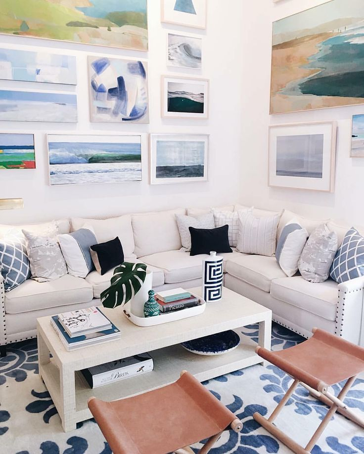 Interior inspiration, clean crisp white room, picture frames