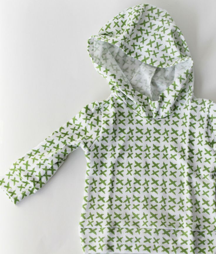 The Cozy Hoodie // Moss Criss Cross | Little Hip Squeaks