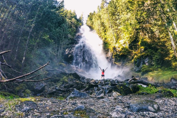 Chasing waterfalls: Kay Falls on the Trans-Canada Highway