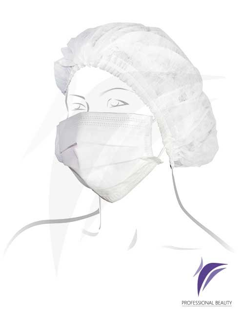 Gorro Desechable x50: Gorros para protección e higiene en todo tipo de tratamientos, elaborados en tela no tejida biodegradable.