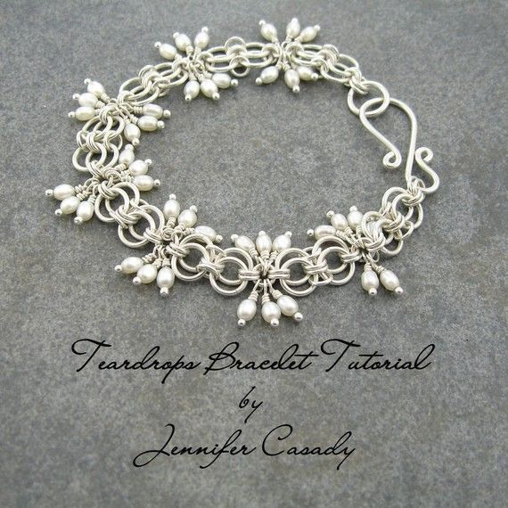 """FLOWING SILVER BRACELET ~ Like delicate handmade lace, the sterling silver chain maille """"diamond"""" gives this sophisticated bracelet a delicate, feminine look."""