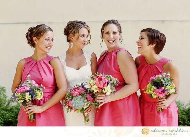 Really love both the bride's dress, and bridesmaids'. dana & tyler | iacocca hall - Alison Conklin Photography