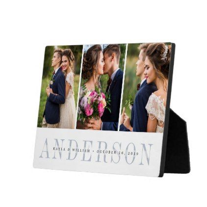 Personalized Wedding Photo Collage Plaque - family gifts love personalize gift ideas diy