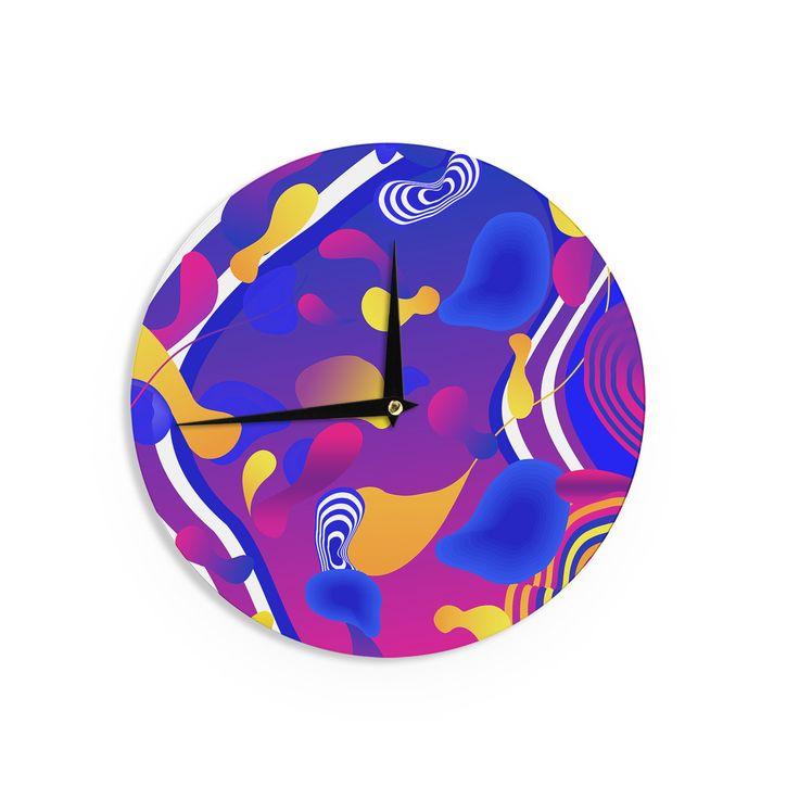 """Danny Ivan """"Bubbles"""" Blue Purple Wall Clock"""