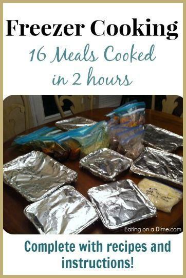 My Freezer Cooking Session -16 meals done in just 2 hours! -Recipes & Instructions included! - Eating on a Dime