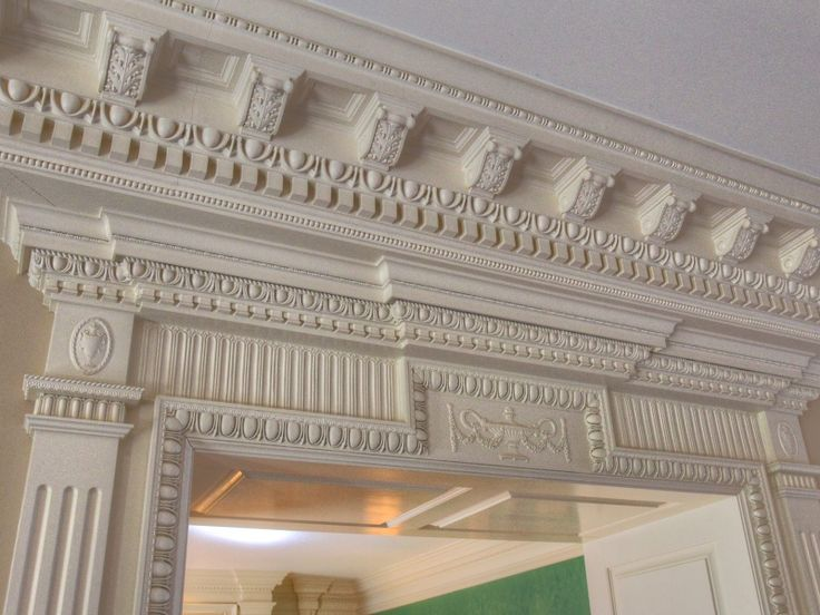 Intricate Crown Molding Architectural Features
