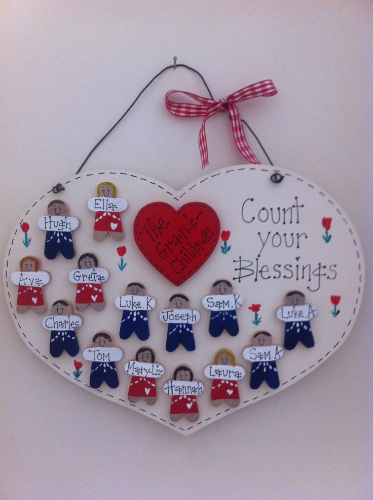 Count your blessings grandchildren plaque