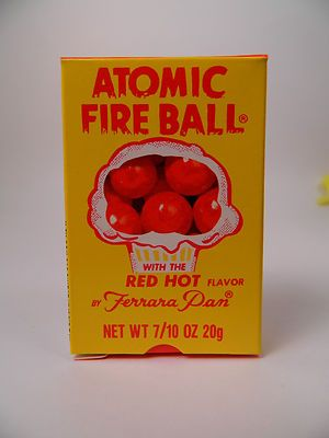 Vintage 80's Pan Ferrara Atomic Fireball Candy Box~~