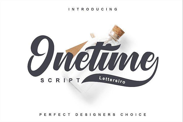 Onetime Script Typeface Lettering Handmade Font