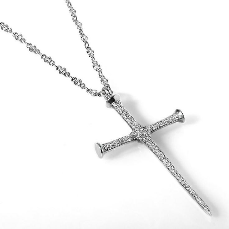 36 best jewelry images on pinterest cross pendant cross rings and edgy diamond cross necklace aloadofball Image collections
