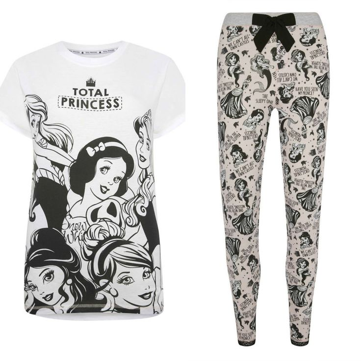 PRIMARK LADIES DISNEY PRINCESS COLLECTION PYJAMA SEPARATES PYJAMAS UK 6 -20