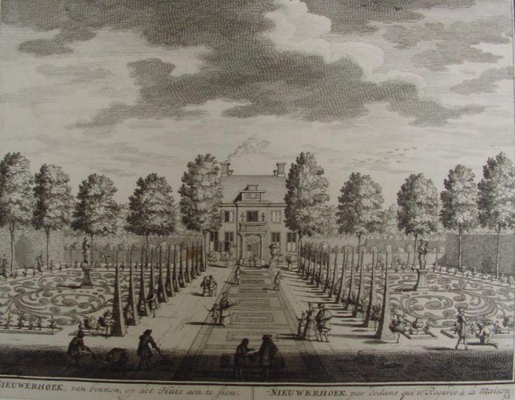 Nieuwerhoek, buitenplaats aan de Vecht - D. Stopendael (1650-ca. 1740) Kunsthandel Pygmalion Beeldende Kunst, Maarssen, Utrecht. Schilderkunst en beeldhouwkunst 1850-1950