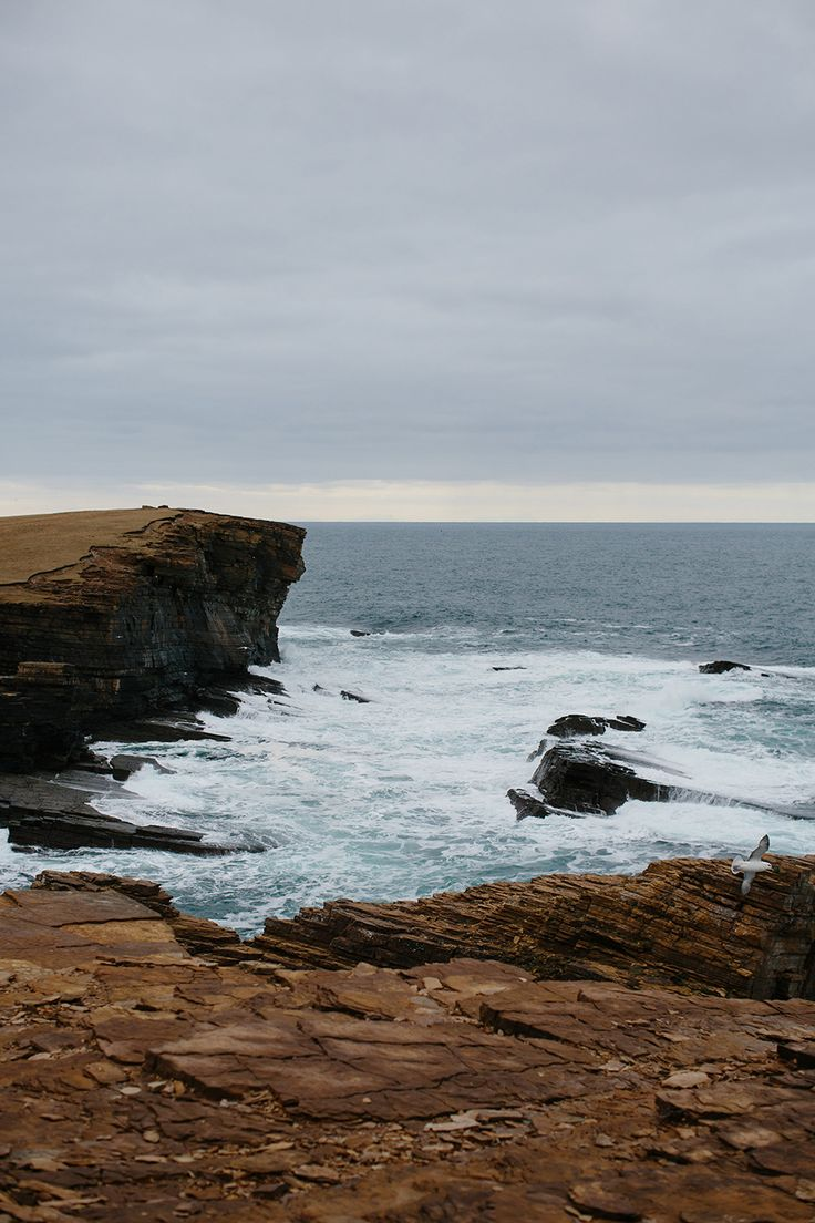 Wild cliffs of Yesnaby. One of the locations from Knitting from the North.
