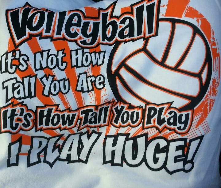 I got this shirt to wear toy volleyball tryouts
