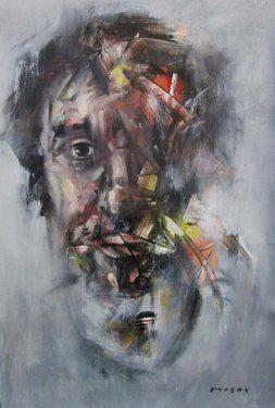 """Saatchi Online Artist Masri Hayssam; Painting, """"New expression-22"""" #art"""