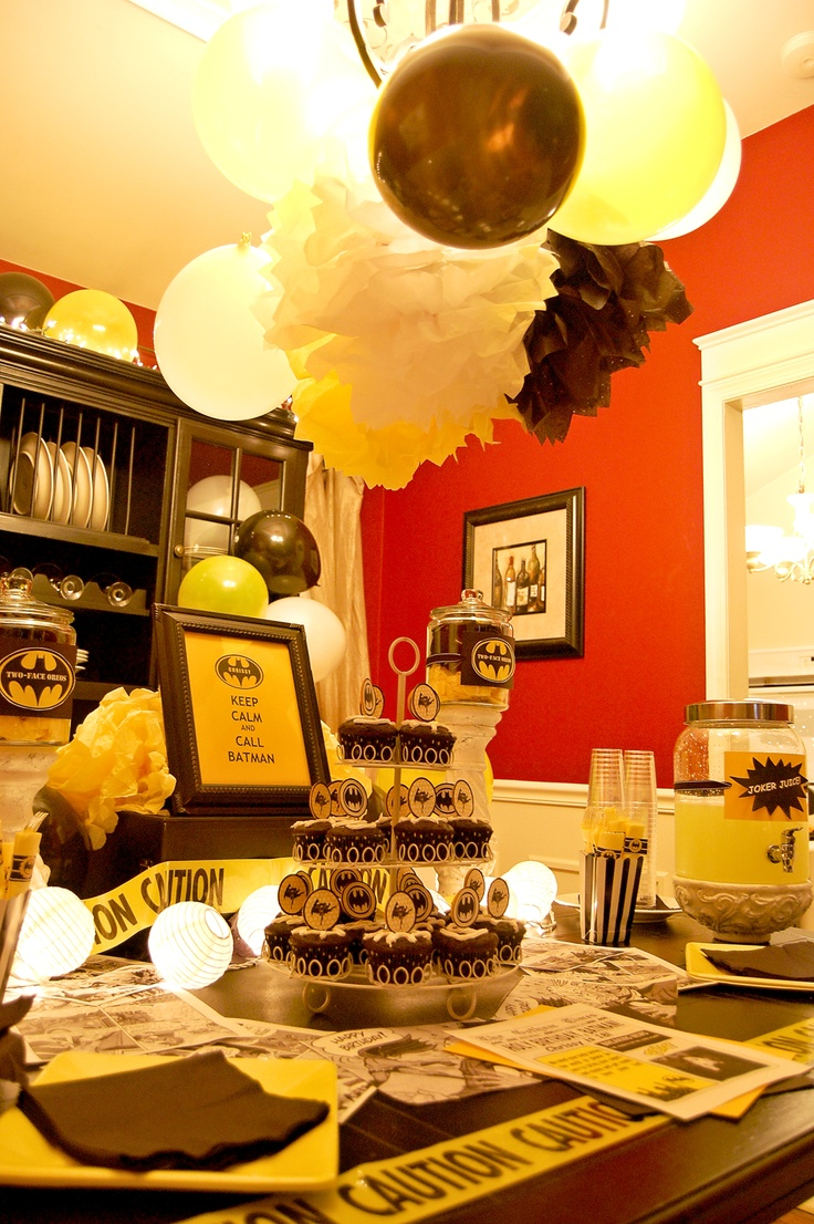 45 best Kelsi's Sweet 16 Batman Party images on Pinterest