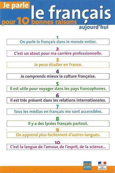 10 bonnes raisons pour parler le francais