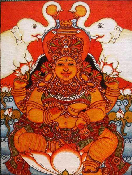 Code No : DGV081 | Sasi Edavarad - Dolna Collection | Lakshmi | Acrylic on…