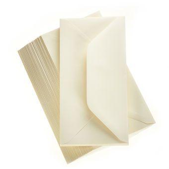 Hobbycraft Premium Ivory Envelopes Size DL Pack of 50