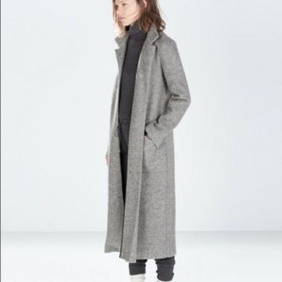 Grey Long Coat | Down Coat