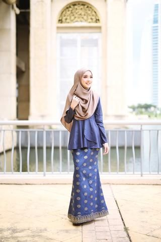Indah Songket (Navy Blue)