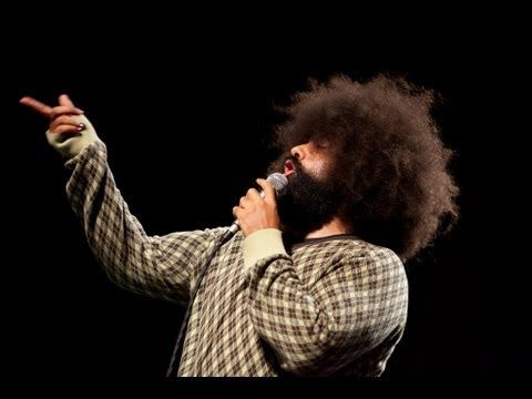 Reggie Watts taking the piss out of the cliches so frequently heard at conferences dedicated to 'Big Ideas', innovation, deep thinking, the future(s), the long view, sea changes, transformations, disruptions, etc.