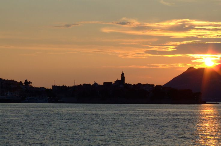 Zachód Słońca nad Korczulą
