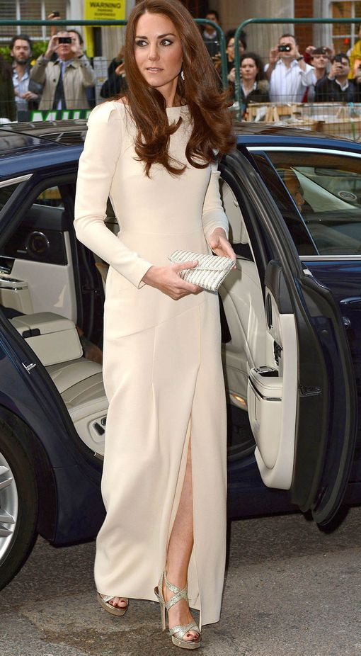 The Duchess wearing a gown by Roland Mouret