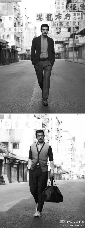 Takeshi Kaneshiro for Emporio Armani's Hong Kong S/S 2012 ad campaign.