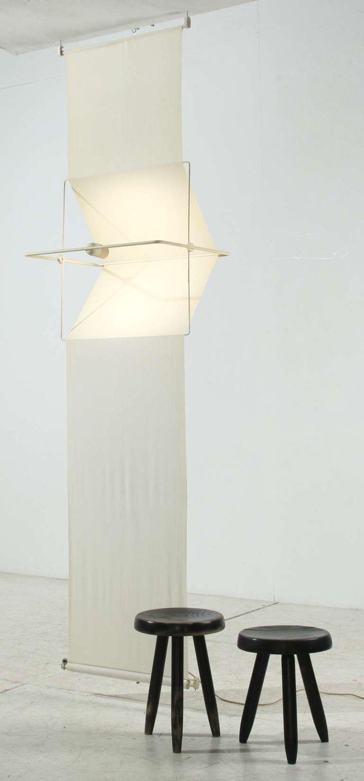 "Rare ""Quinta"" lamp and room divider by Silvio Coppola, Artemide, Italy, 1970s 4"