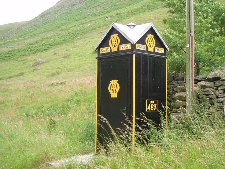 Preserved AA box on Kendal to Ambleside road, A591, July 2010.