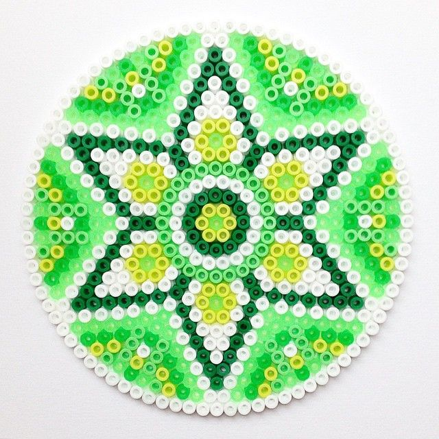 Spring mandala hama perler beads by coriander_dk