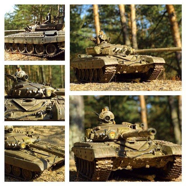 Т-72 — основной боевой танк СССР. Масштаб модели: 1/35 Длина в собранном виде: 289 мм. Особенности модели: - металлическая решетка радиатора; - фигурка командира танка; - несколько видов декалей.