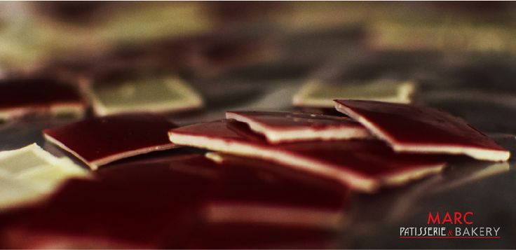 Some little chocolate squares for the desserts #MARCChocolaterie #Chocolate #MARCPatisserieandBakery
