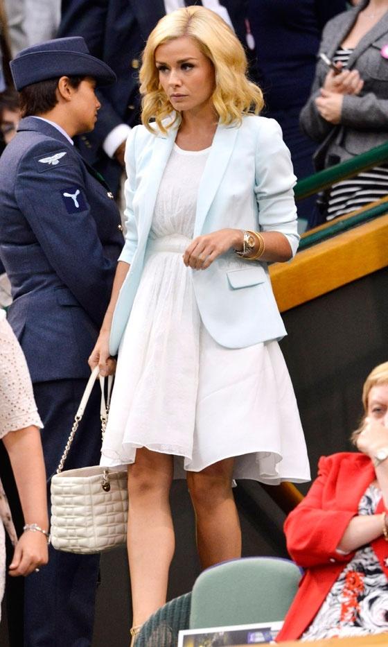 Katherine Jenkins At Wimbledon Tennis Championships, 2012