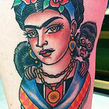 Words can not describe how jealous I am of this tattoo. | Frida Kahlo - Olivia Sanders, Amillion Tattoo (now at Sideshow), Austin, TX - Imgur