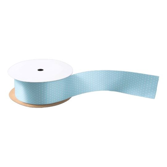 Polka dot, blue pattern, classic design, retro satin ribbon