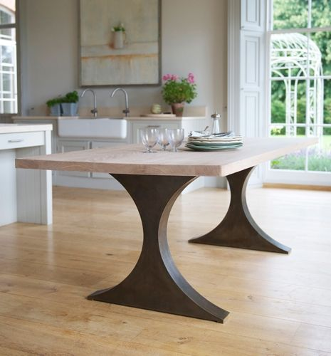 Contemporary Dining Room Table: Metal Contemporary Paris Rectangular Dining Table