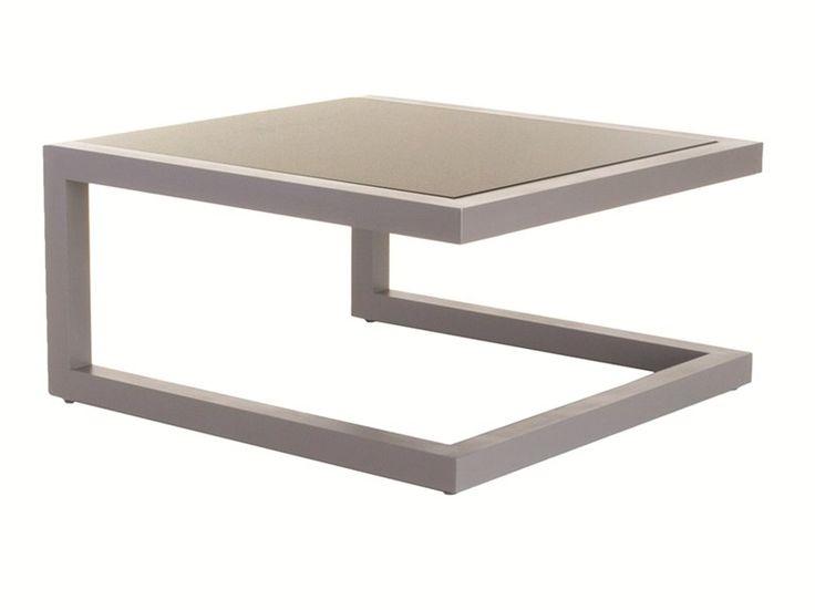 Низкий квадратный Кориан® садовый столик весна | алюминий журнальный столик - Efasma