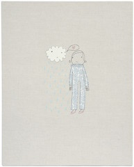 girl with cloud. wall art by K Studio